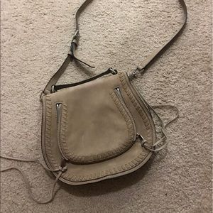 Rebecca Minkoff Bags - Rebecca Minkoff Suede vanity saddle bag sandstone
