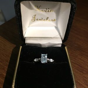 Kevin Jewelers Jewelry - Aquamarine and White Gold Ring