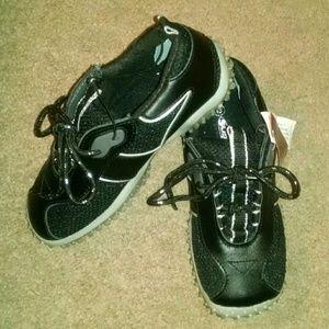 Soho girls leather black unique tennis shoes