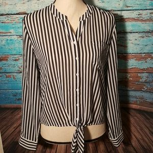 Chico's Tops - Chico's Pinstripe Blouse