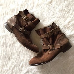 H By Hudson Shoes - H by Hudson brown suede Starley ankle boots