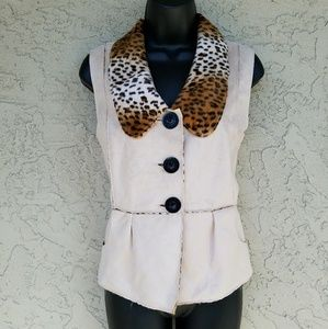 Lisa International  Jackets & Blazers - Reversible Faux Suede & Leopard Vest