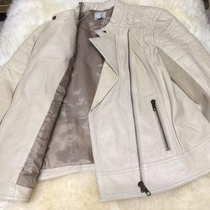 Halogen Jackets & Blazers - Halogen leather Moto jacket