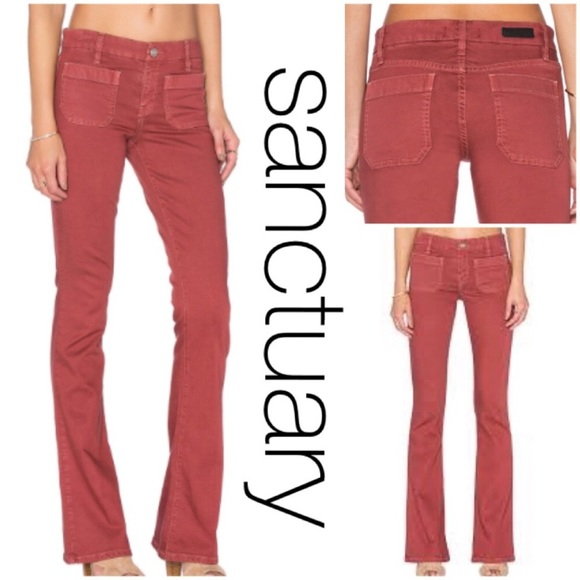 c4901378 Sanctuary Jeans | Nwt Marianne Flare Jeanpants In Marsala | Poshmark