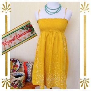 Flying Tomato Dresses & Skirts - Flying Tomato Spring is Here! Eyelet yellow dress