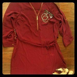 New Look Burgandy Mini Dress