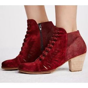 NEW In Box 9.5 Free People Maroon Suede Boot