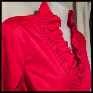 Alex Marie Tops - ♦️NWT Scarlet Red Ruffled Cotton Top♦️Alex Marie
