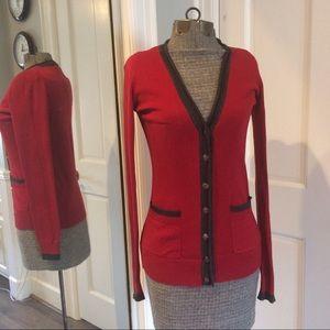 Twenty One Sweaters - Preppy Red Cardigan