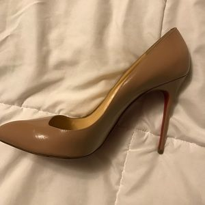 Christian Louboutin Shoes - Corneille 100 Patent G Nude 41.5