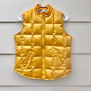 Arizona Jean Company Other - Arizona Jeans Yellow Vest Puffer Jacket Medium NEW
