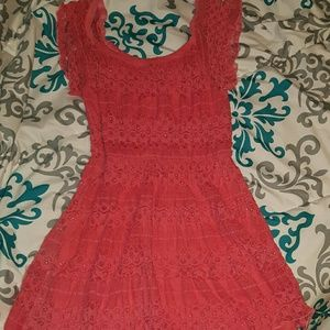 My Michelle Dresses & Skirts - NWOT coral lace dress