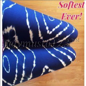 Mega Soft Brushed Blue Tie Dye Leggings