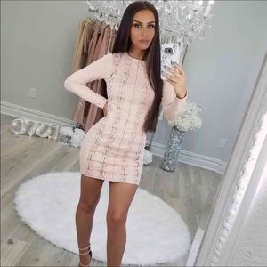 Carli Bybel missguided criss cross dress