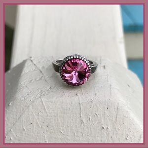 Jewelry - Handcrafted ring with Swarovski crystal #186
