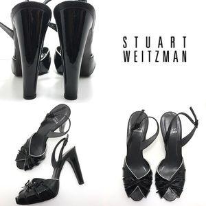 Stuart Weitzman Heels • Patent Leather Peep Toe