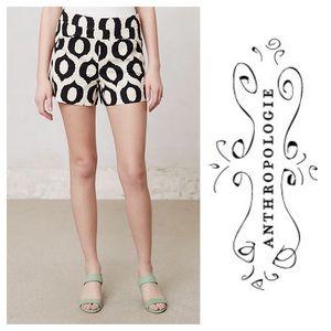 Anthropologie Cartonnier black tan ikat shorts 4