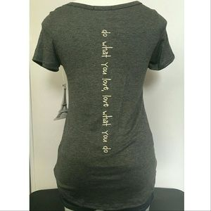 1eyed 1der boutique Tops - Heart Pocket Tee (Gray)