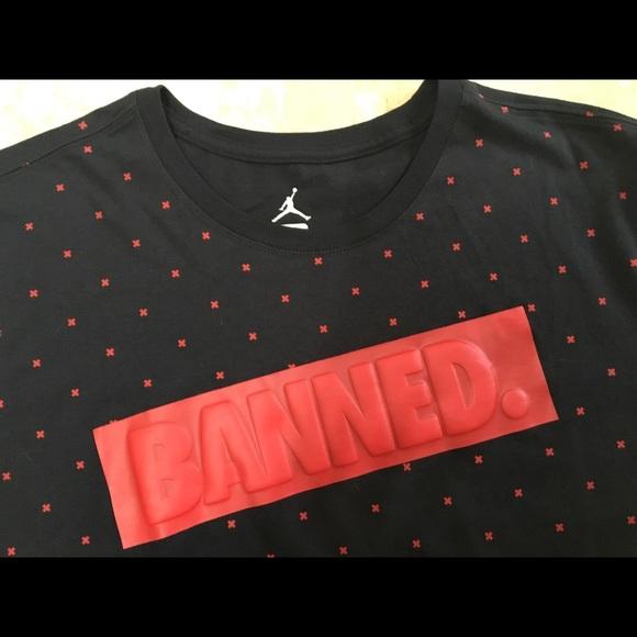 28b92a5549a Nike Shirts | Air Jordan 1 Banned Retro Tshirt Xl Mens | Poshmark