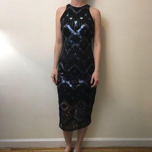 Alexis Admor Dresses & Skirts - Alexis Admor Black Sequin Zipper Pencil Dress