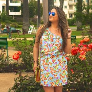 Shabby Apple Floral One Shoulder Dress!
