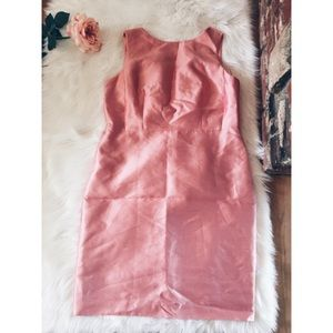 NWT Talbots Silk Wool Shimmery  Pale Pink Dress 16