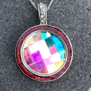 Jewelry - Handcrafted necklace with Swarovski crystal #188