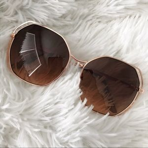 Chloe Accessories - NEW | DOUBLE WIRE RIM GEO SUNNGLASS | ROSE GOLD