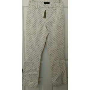 J. Crew Pants - NWT J. Crew OffWhite w/Blk Dots Thick Pants