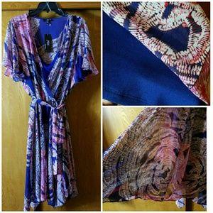 Dresses & Skirts - Macy's Surplice Front Chiffon Dress