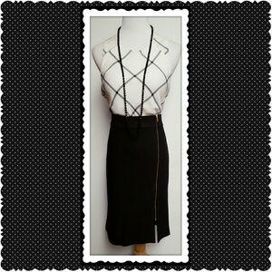 Banana Republic Dresses & Skirts - Banana Republic Black Zipper Skirt