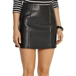 T by Alexander Wang Dresses & Skirts - T by Alexander Wang Black Leather Mini Skirt