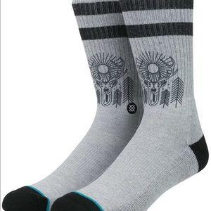 stance  Other - Stance socks medium Gray deer 🦌 socks