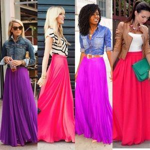 KORS Michael Kors Dresses & Skirts - KORS fuchsia maxi skirt Sz. 2p stunning & classic