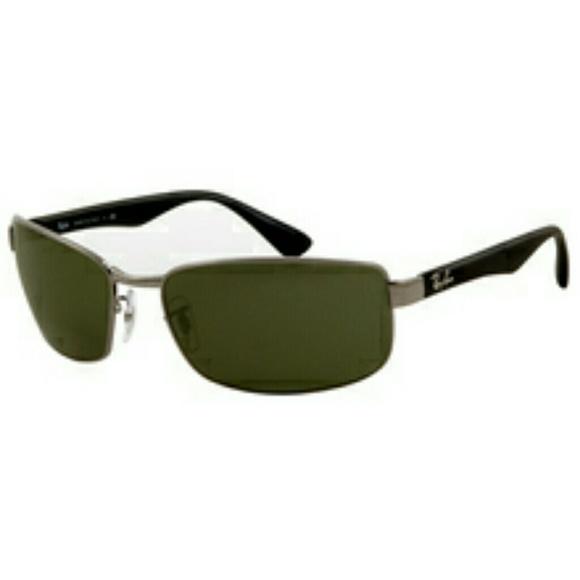 4bfb3d8d42 Ray-Ban Gunmetal Green Sunglasses RB 3478 004 63mm.  M 58ee0d20620ff7b64b0a5f02