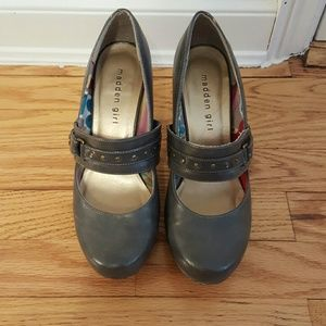 Madden Girl Shoes - Adorable gray Madden Girl maryjanes