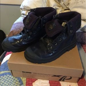 Palladium Shoes - Plum Purple Palladium Boots