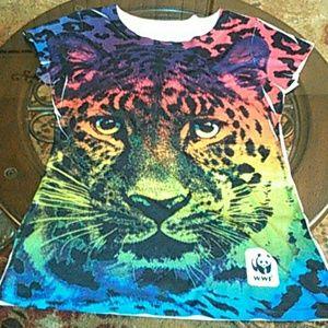 Bioworld Tops - WWF Wild Cat Shirt nwot