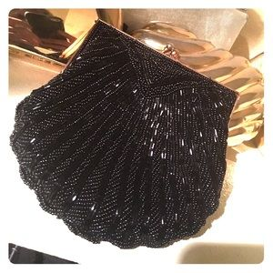 Carla marchi beaded scallop evening bag