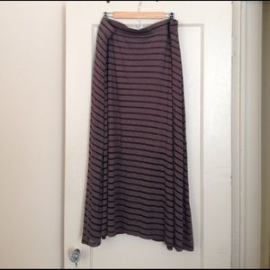 INC International Concepts Dresses & Skirts - Cappuccino Striped Lined Skirt