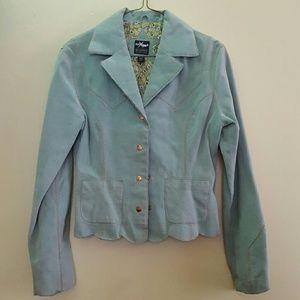 Maxima Jackets & Blazers - Vintage Genuine Leather Suede Jacket Blazer