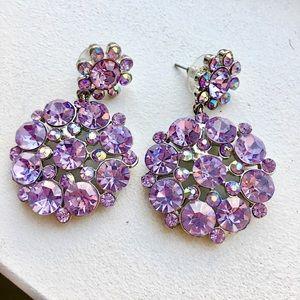 J. Crew Jewelry - BRAND NEW Purple Crystal Jewel Drop Earrings