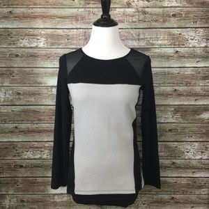 Express Tops - Express Slimming Top Gray Quilted & Black Small