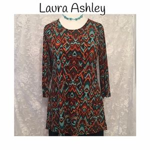 Laura Ashley Tops - LAURA ASHLEY blouse with rhinestones on the front!