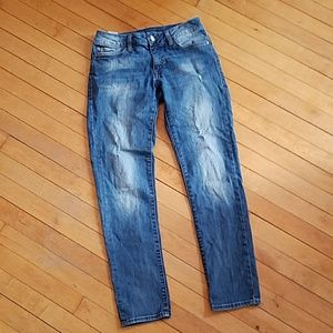 Mavi Denim - Mavi Angie Distressed Skinny Jeans