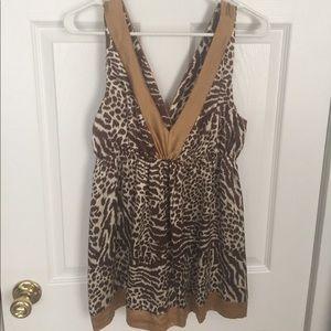Alice & Trixie Tops - Alice & Trixie Leopard Print Silk Shirt, Size M