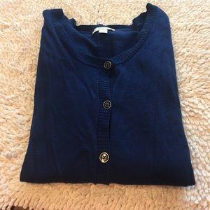 New York & Company Sweaters - New York and company 3/4 sleeve blue cardigan