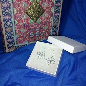 Jewelry - Sterling Silver 925 butterfly dangle earrings
