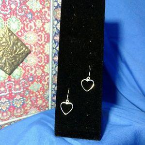 Jewelry - Sterling Silver 925 heart dangle earrings
