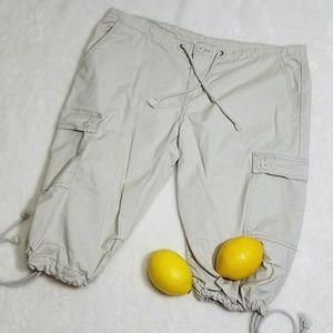 Prana Pants - PrAna Tie Bermuda Cargo Pockets Hiking Shorts N4